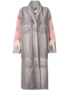 Shop Liska patterned sleeve coat.