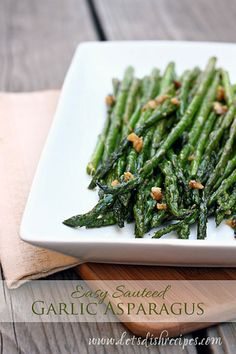 Vegetables don't get much easier than this Sauteed Garlic Asparagus. It's perfect for Thanksgiving because it doesn't take up space in the oven and can be made in the 10 minutes or so required for ...