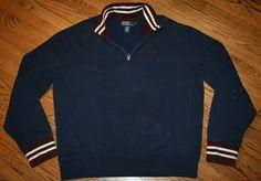 Polo Ralph Lauren half-zip Pullover Sweater Men's XL sailing boating hiking camp #PoloRalphLauren #12Zip