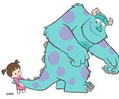 Sully and Boo!! Feliz cumpleaños a mi pequeña negrita Alexa