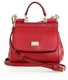 051e2dd79450 Dolce & Gabbana Micro Miss Sicily Textured-Leather Satchel on shopstyle.com  Leather