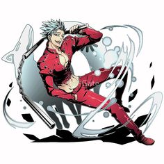 'Ban - The Seven Deadly Sins Anime - Nanatsu no Taizai' Poster by the-Gate Seven Deadly Sins Anime, 7 Deadly Sins, Anime Sexy, Hot Anime Guys, Dark Anime, Anime Boys, Vampire Knight, Vampire Hunter, Animes Online