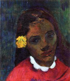 The Athenaeum - Tahitian Woman's Head (Paul Gauguin - )