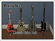 My Sims 4 Blog: Musician Guitar Pack, Ha2D Electric Bass and More Conversions by…