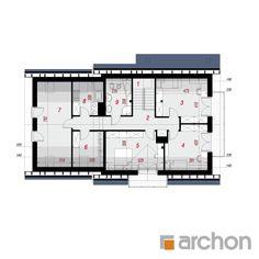 Dom w czerwonokrzewach Floor Plans, Floor Plan Drawing, House Floor Plans