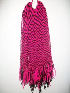 two pink and black cyber goth steampunk alternative hand woven hair falls 100 per hairfall... £27.99