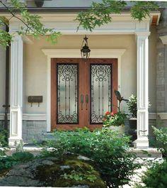 US Door and More Inc.: What are the benefits of glass inserts for doors  Belle Meade Wrought Iron Door Insert