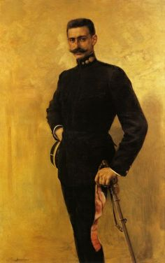 Portrait of Pavlos Melas by Georgios Jakobides. Pavlos Melas was an officer of the Hellenic Army. Greek History, Art History, Hellenic Army, Greek Paintings, Marseille France, Greek Art, Art Database, Chiaroscuro, Thessaloniki