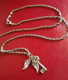 Flying Key Necklace Harry Potter Inspired by MagicPopUpShop