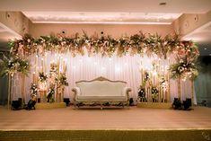 Engagement Stage Decoration, Wedding Hall Decorations, Desi Wedding Decor, Luxury Wedding Decor, Simple Stage Decorations, Backdrop Decorations, Backdrops, Reception Stage Decor, Wedding Backdrop Design