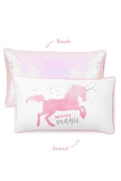 MAGICAL Unicorn Pillow w/ Reversible Iridescent & Silver Sequins (Pre-Order)