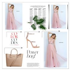 """""""Sherri Hill 50029 Blush A Line Long Homecoming Dress"""" by homecomingqueendress on Polyvore featuring Sherri Hill, Giuseppe Zanotti, MANGO, Prom, dress, cocktail, evening and Homecoming"""