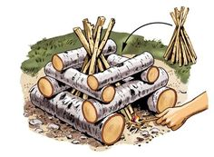How to Build a Log-Cabin Council Fire | Field Stream