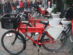 red bikes with text swisshotel amsterdam