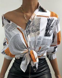 Trend Fashion, Look Fashion, Fashion Prints, Fashion Outfits, Womens Fashion, Unique Fashion Style, High Fashion Looks, Trendy Style, Female Fashion