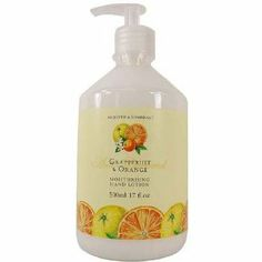 Tropical Fruits Hand Lotion - Grapefruit and Orange by The Stratford Apothecary. $11.99. Grapefruit and Orange Fragrance. 500ml/17 fl oz Bottle. This nourishing Moisturizing Hand Lotion in a 500ml/17 fl oz Pump Bottle is lavishly fragranced with the sweet and energizing scent of Grapefruit & Orange. As with all our moisturizers we use the finest quality natural ingredients in their production helping to alleviate tired hands and deeply moisturize your skin. Experience the fine...