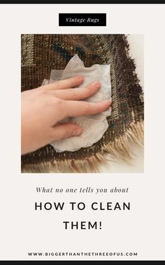 How to Clean a Vintage rug, or really, how to clean a rug at home. This simple method of rug cleaning will work for lots of different rugs! I've used this method over and over again, and have had great success.