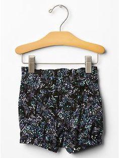 Black Ink Printed bubble shorts baby gap