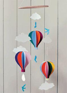 hot air balloon mobile - free pdf of project http://www.shambhala.com/images/illus/BelleandBoo_BalloonMobile.pdf