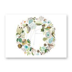 'lovely green wreath' the new collection 2017 www.moniekpeekcardshop.com