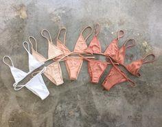 Swimwear: nude bikini brazilian bikini white triangle bikini bassic bikini in all this nice colorful