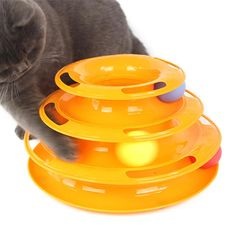 Interactive Pet Cat Ball Toys, DIKASI Three Levers Tower of Tracks Bar [Include Mice Toys] Mental Physical Exercise for Kittens & Endless Play Amusement Plate, Anti-Slip, Active Healthy Lifestyle. Kitten Toys, Pet Toys, Maine Coon, Funny Cats, Funny Animals, Cheap Pets, Interactive Cat Toys, Activity Toys, Dog Teeth