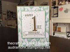 Number of Years stamp set, Stampin' Up! thecraftyyogi.blogspot.com