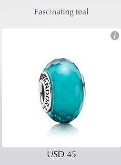 Pandora Charm- Fascinating Teal