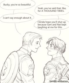 "vinbarnes: ""And I just can't get enough of short-hair-Bucky. """