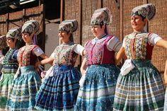 Čajkov, Slovakia. Folk Costume, Costumes, Heart Of Europe, Handkerchiefs, Czech Republic, Traditional Dresses, Ukraine, Lush, Folk Art