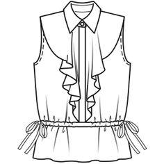 Блуза - выкройка № 119 из журнала 6/2009 Burda – выкройки блузок на Burdastyle.ru