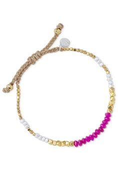 Adjustable Green or Pink Beaded Bracelet | Foundation Bracelet | Stella & Dot