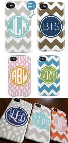 monogrammed phone cover. want.