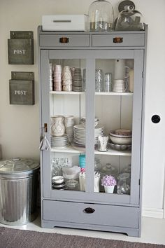 Lovely Painted Grey - Gray Cupboard