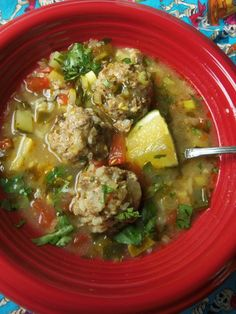 Kicked-Up Albóndiga Soup (Albondigas Soup Recipes) Mexican Dishes, Mexican Food Recipes, Soup Recipes, Cooking Recipes, Dinner Recipes, Spanish Dishes, Mexican Cooking, Kitchen Recipes, Beef Recipes
