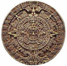 Aztecs.  The calendar of the sun located at the Museo de Antropología en la Cuidad de México (Mexico City).