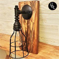 Pipe Lighting, Mason Jar Lighting, Rustic Lighting, Rustic Light Fixtures, Vanity Light Fixtures, Wide Mouth Mason Jars, Glass Insulators, Metal Birds, Live Edge Wood