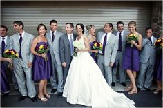 Silver and purple wedding!