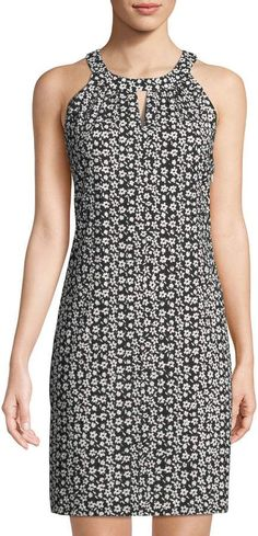 Karl Lagerfeld Paris Floral Halter-Neck A-Line Dress dress Karl Lagerfeld Paris Floral Halter-Neck A-Line Dress Simple Dresses, Elegant Dresses, Beautiful Dresses, Casual Dresses, Short Dresses, Karl Lagerfeld, Dress Outfits, Fashion Outfits, Dress Sewing Patterns