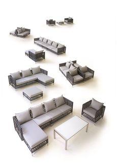 Flow 2 seater garden sofa left module