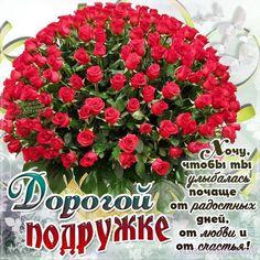 С Днем рождения Поздравления Привет Подруге Розы