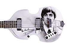 Beatles Paul McCartney Autograph Signed Airbrush Hofner Guitar