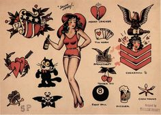 sailor jerry tattoos | Aliens and Ice Cream, vintagegal: Sailor Jerry Tattoo Flash