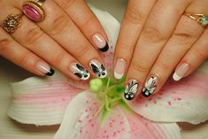 Top 75 Black and white nails photos 2018