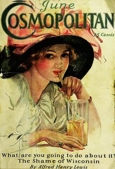 Cosmopolitan, Gibson Girl (June by Harrison Fisher Old Magazines, Vintage Magazines, Vintage Ads, Fashion Magazine Cover, Magazine Art, Fashion Cover, Magazin Covers, Jugendstil Design, Cosmopolitan Magazine