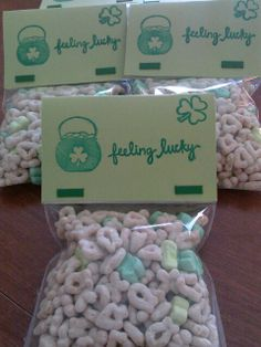 Lucky charm treats diy St. Patrick's Day by- Shannon Vivero