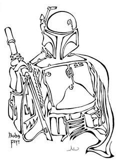 Boba fett drawing using a single line - Imgur