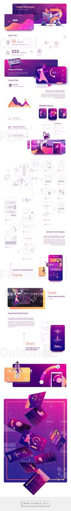 AR Virtual Fitness Coach App | AR 虚拟健身教练 on Behance - created via https://pinthemall.net