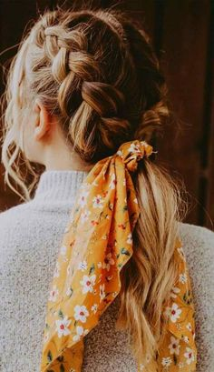 Easy Hairstyles - Easy Hairstyles Hair styles 21 pretty ways to wear a scarf in your hair, easy hairstyle with scarf , hairstyles for really hot weather Headband Hairstyles, Pretty Hairstyles, Easy Hairstyles, Hairstyle Ideas, Bob Hairstyle, Casual Braided Hairstyles, 1970s Hairstyles, Casual Braids, Cute Hairstyles For Medium Hair
