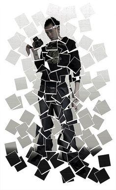 (hockneyesque) self portrait: in the style of David Hockney by Adam Foster David Hockney Photography, Abstract Photography, Photography Projects, Creative Photography, David Hockney Collage, David Hockney Joiners, Photo Mosaic, Photocollage, Photoshop